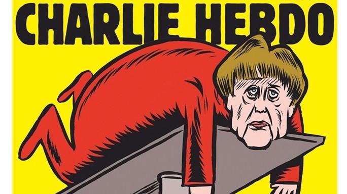 Charlie Hebdo sbarca in Germania, Merkel 'testimonial'