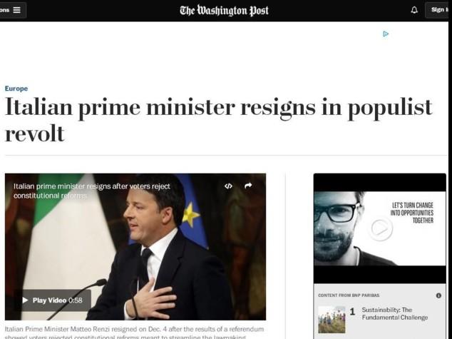 """""""Vittoria populista nel cuore d'Europa"""""""