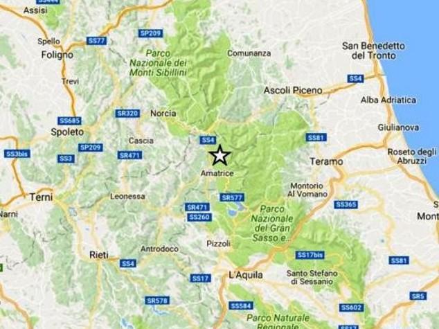Forte scossa ad Amatrice, sciame sismico nel centro Italia