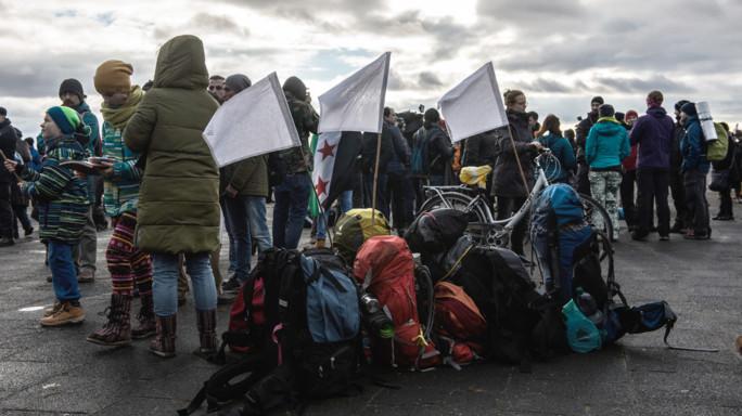 Da Berlino ad Aleppo, marcia di 3.600 km contro la guerra