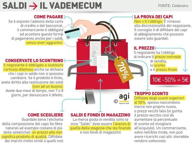 2ac6a7156c3957 Sabato primo luglio iniziano i saldi in tutta Italia. Come ogni anno, il  Codacons mette in guardia i consumatori da possibili 'fregature', e  diffonde i 10 ...