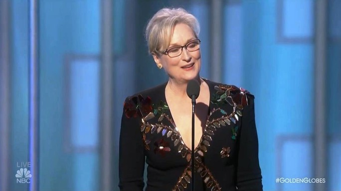 Cosa ha detto Meryl Streep a Trump ai Golden Globe