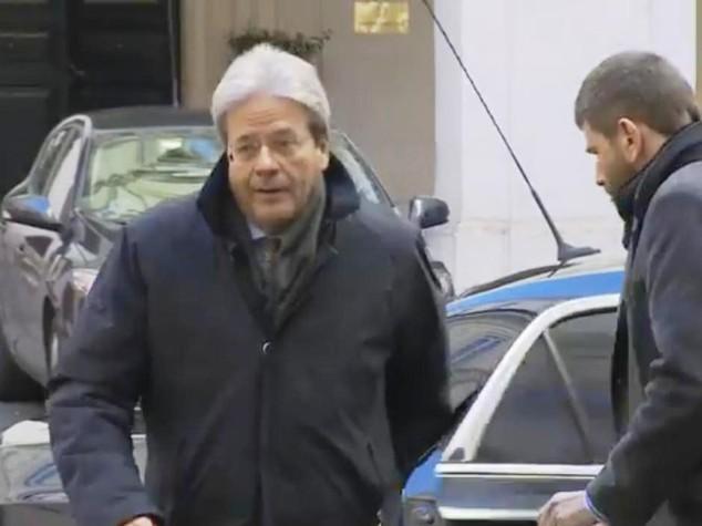Gentiloni torna subito al lavoro, a Palazzo Chigi per il Cdm