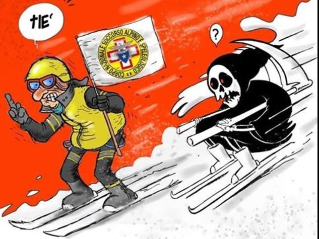 Rigopiano: la morte in sci, Charlie Hebdo ironizza