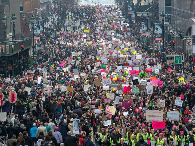 Due milioni e mezzo di donne in marcia contro Trump