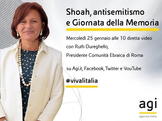 Giornata della Memoria, Ruth Dureghello in diretta web Agi