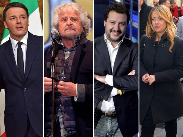 Consulta fa felici Renzi, Grillo, Salvini e Meloni: #VotoSubito