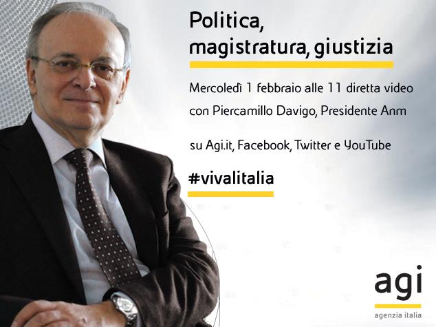 Piercamillo Davigo in diretta web a 'Viva l'Italia'