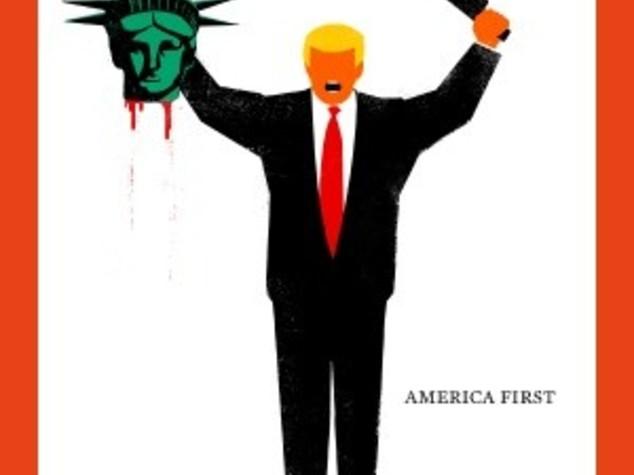Sulla copertina di 'Der Spiegel' Trump decapita statua Libertà