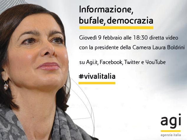 #BastaBufale, l'appello di Laura Boldrini per una informazione corretta
