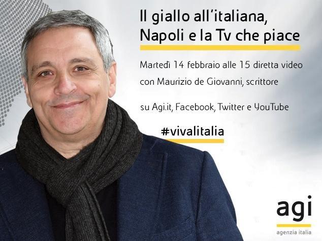 Oggi diretta web in Agi con Maurizio de Giovanni