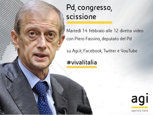 Alle 12 Fassino in diretta web a 'Viva l'Italia'