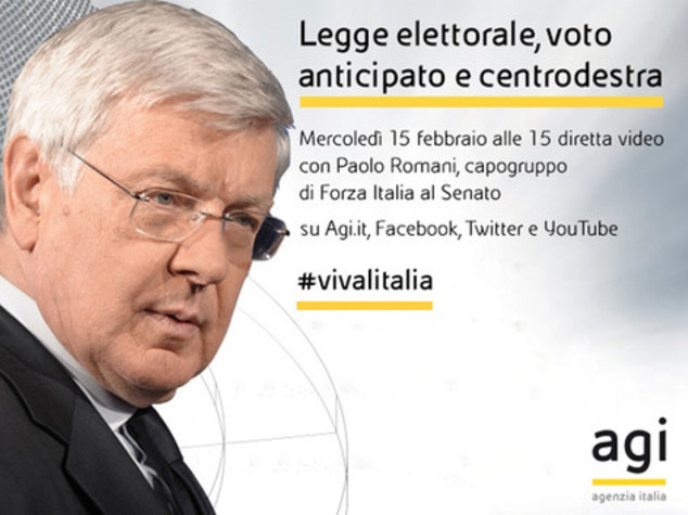 Paolo Romani alle 15 in diretta web a 'Viva l'Italia'
