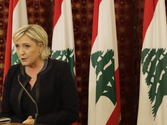 "Siria: Marine Le Pen a Beirut, ""Assad e' il male minore"""