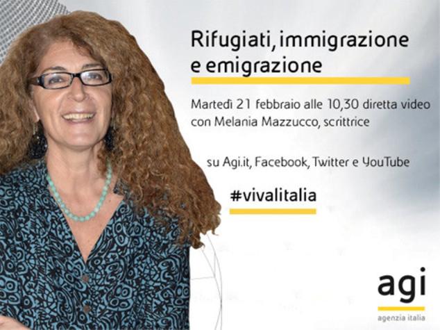 Melania Mazzucco in diretta web alle 10,30 a 'Viva l'Italia'