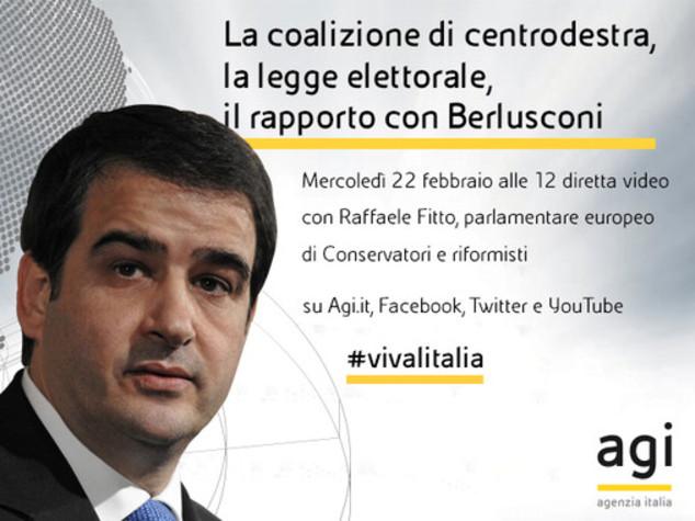 Oggi alle 12 Raffaele Fitto in diretta web a 'Viva l'Italia'