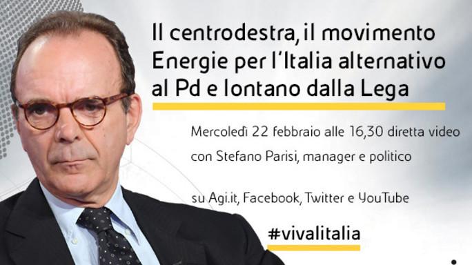 """Stefano Parisi in diretta web a """"Viva l'Italia"""""""