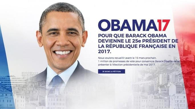 Obama candidato all'Eliseo. L'idea corre su Twitter