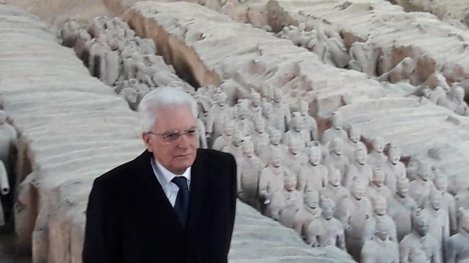 Mattarella a Xian, sito archeologico dei Guerrieri di terracotta