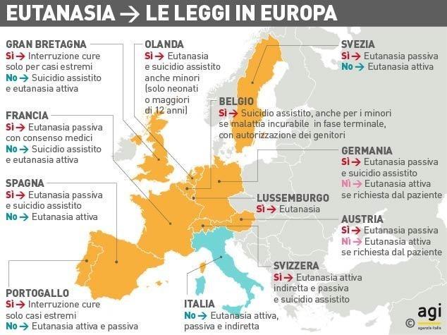 Cartina Europa 2017.Mappa Dove Si Pratica L Eutanasia In Europa
