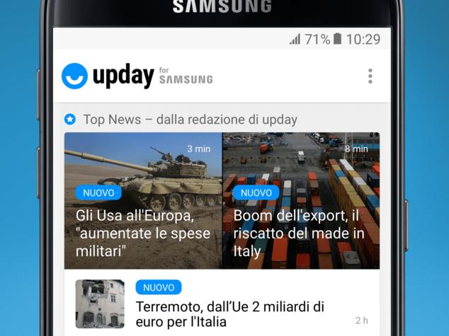 Upday arriva in Italia. Il meglio delle news a portata di 'swipe'
