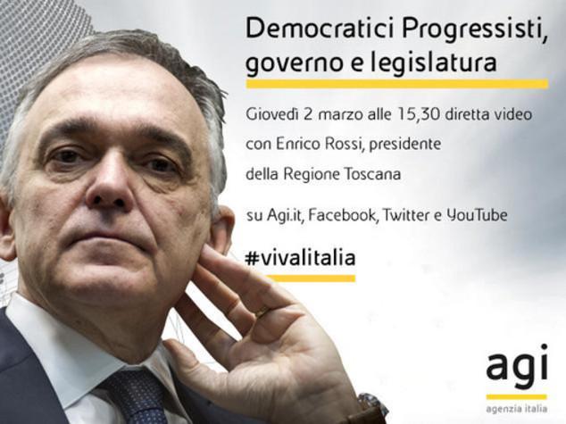 Enrico Rossi alle 15.30 in diretta web a 'Viva l'Italia'