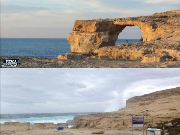 """La """"finestra azzurra"""" dell'isola di Gozo non c'è più"""