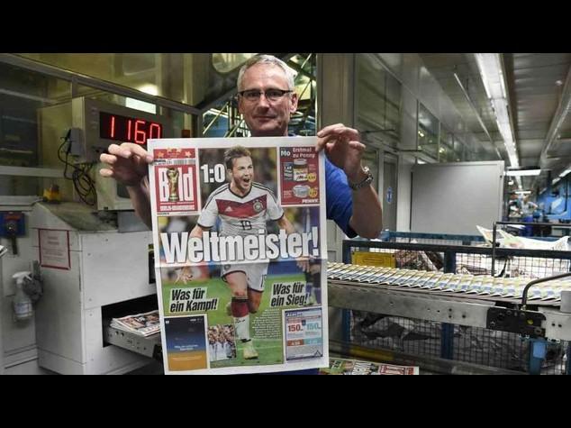 Mondiali: Germania, stampa in giubilo celebra il trionfo