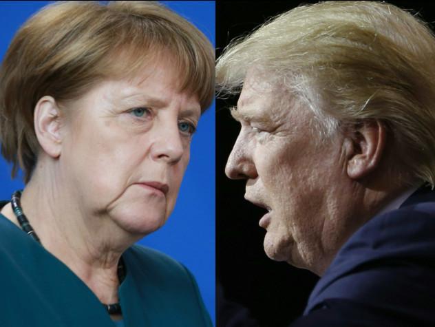 Il faccia a faccia tra Trump e Merkel