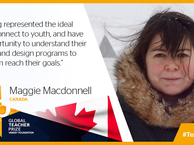 Maggie Mac Donnell è la Global Teacher 2017
