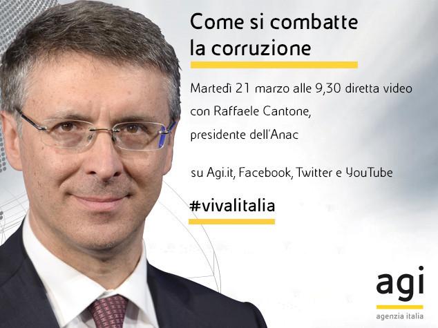 Raffaele Cantone alle 9.30 in diretta web a 'Viva l'Italia'