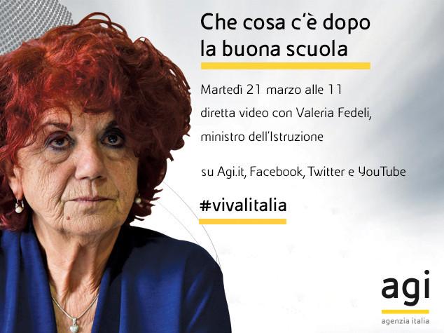 Valeria Fedeli alle 11 in diretta web a 'Viva l'Italia'