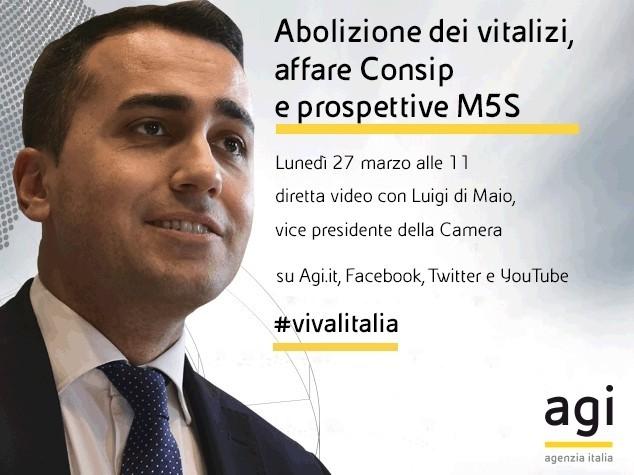 Luigi Di Maio in diretta web a 'Viva l'Italia'