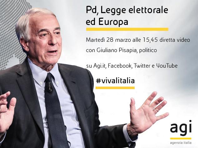 Giuliano Pisapia alle 16 in diretta web a 'Viva l'Italia'