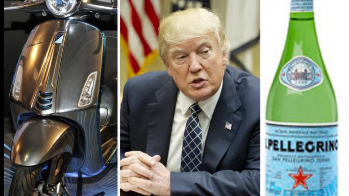 Trump studia i dazi sui prodotti europei. Colpite anche Vespa e San Pellegrino