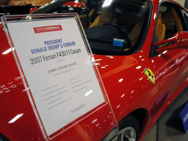 All'asta la Ferrari del 2007 appartenuta a Trump