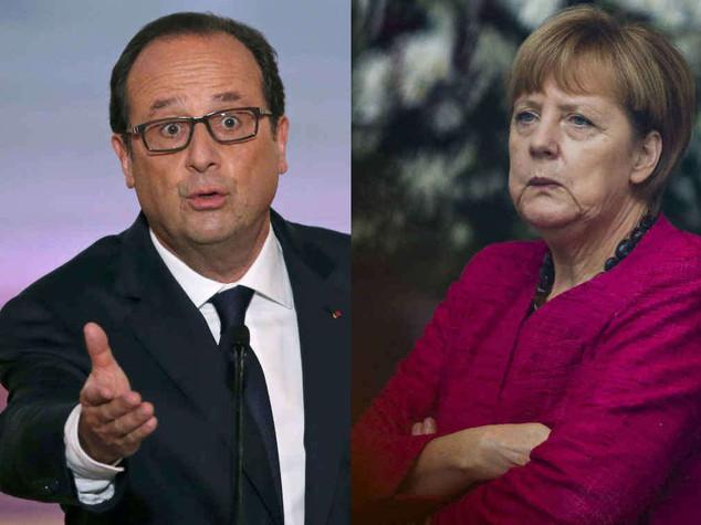 La Francia si ribella all'austerita'  Merkel, gli impegni si rispettano