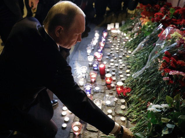 Il terrore irrompe nella città di Putin