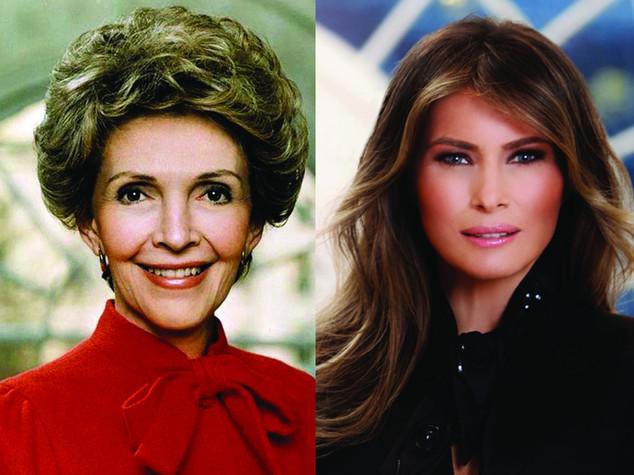 Melania come Nancy, la stessa foto 36 anni dopo