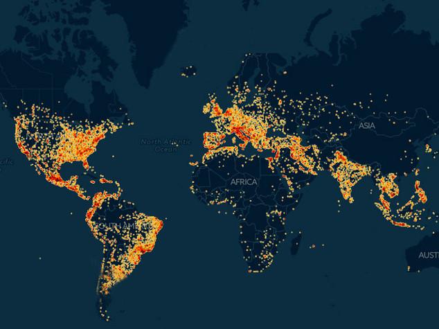 Una startup italiana ha mappato tutte le reti wifi del mondo. Wiman