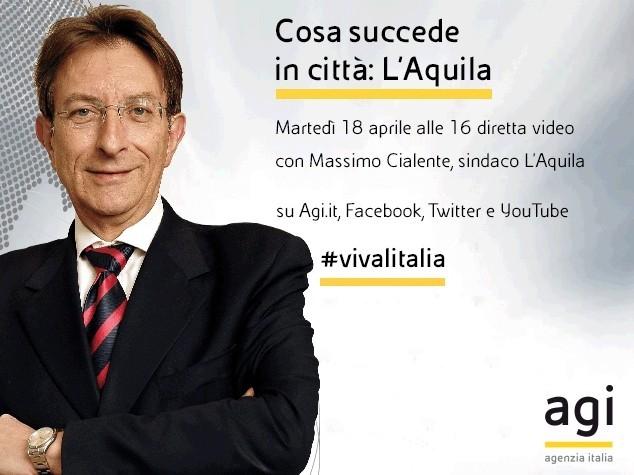 Il sindaco dell'Aquila Massimo Cialente a 'Viva l'Italia' a 8 anni dal sisma