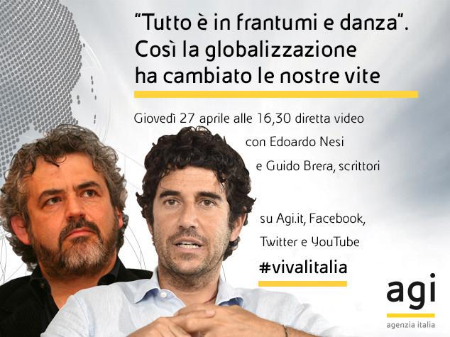Edoardo Nesi e Guido Brera alle 16,30 in diretta web