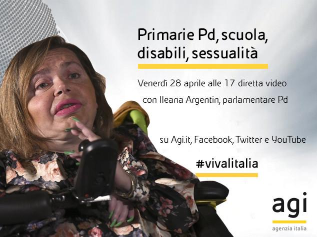 Ileana Argentin alle 17 in diretta web a 'Viva l'Italia'