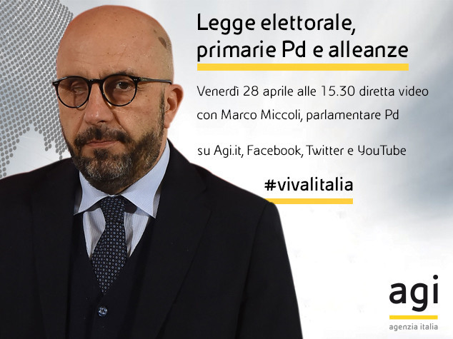 Marco Miccoli alle 15 e 30 in diretta web a 'Viva l'Italia'
