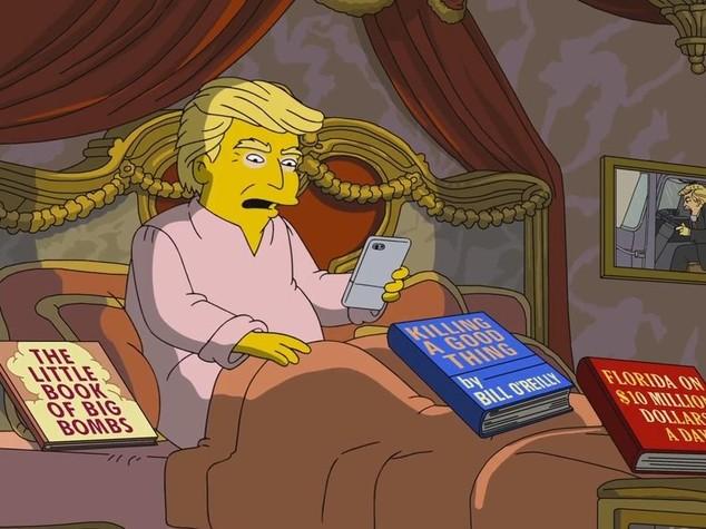 In 100 giorni di Trump finito il Prozac dei Simpson: doveva durare 4 anni