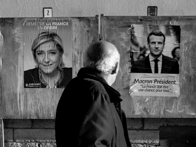 Scontro tv Le Pen-Macron visto dai militanti del Front national