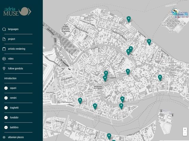 Girare per Venezia su una gondola (grazie a una mappa interattiva)