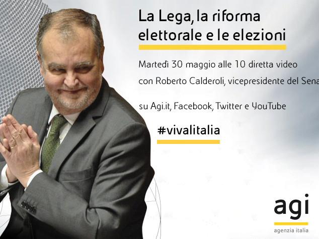 Roberto Calderoli alle 10 in diretta web a 'Viva l'Italia