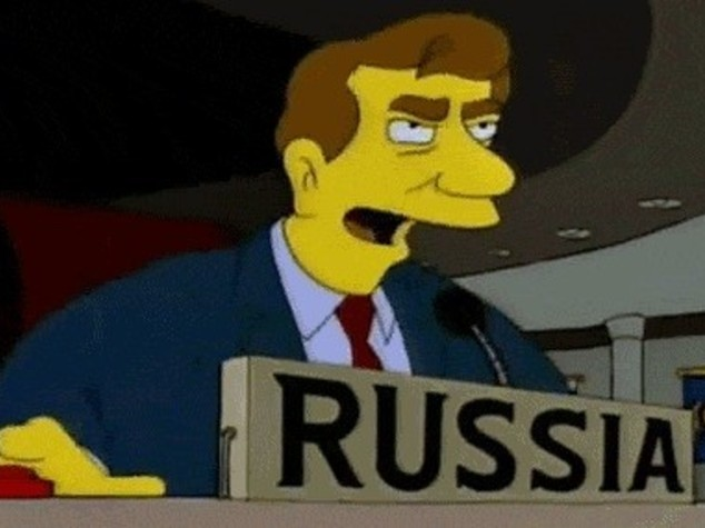 Tra Russia e Ucraina guerra anche su Twitter. A colpi di Simpson