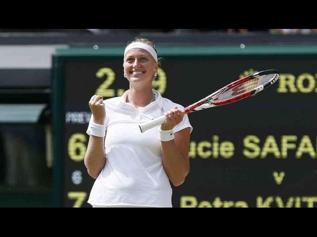 Wimbledon, Kvitova e' la prima finalista